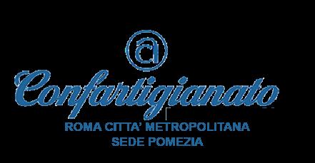 LOGO CONFARTIGIANATO ROMA CITTA' METROPOLITANA SEDE POMEZIA